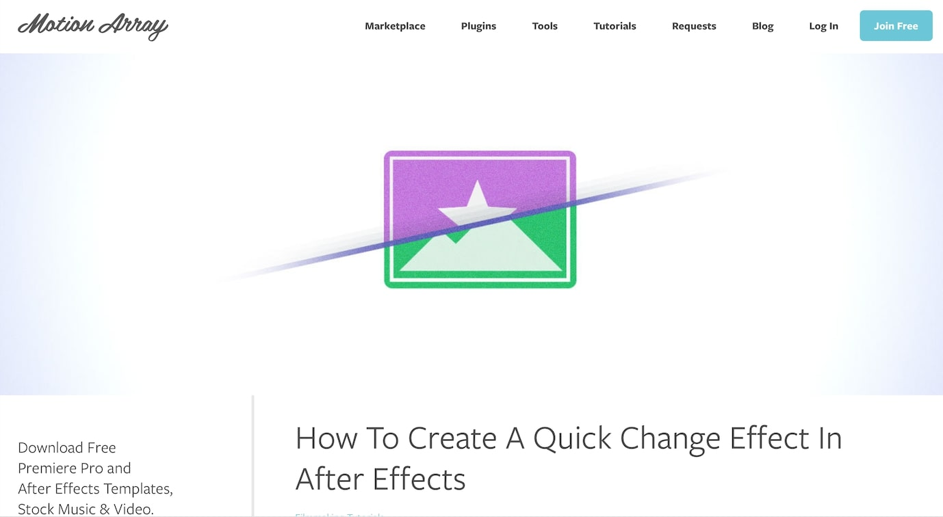 How To Create A Quick Change Effect In After Effects