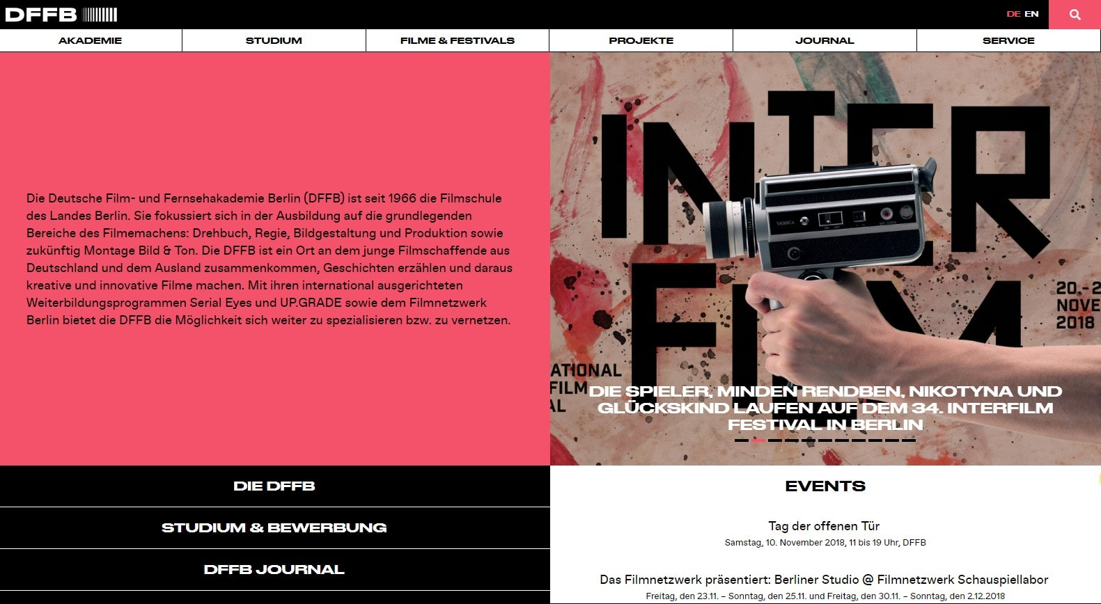 The Deutsche Film und Fernsehakademie Berlin