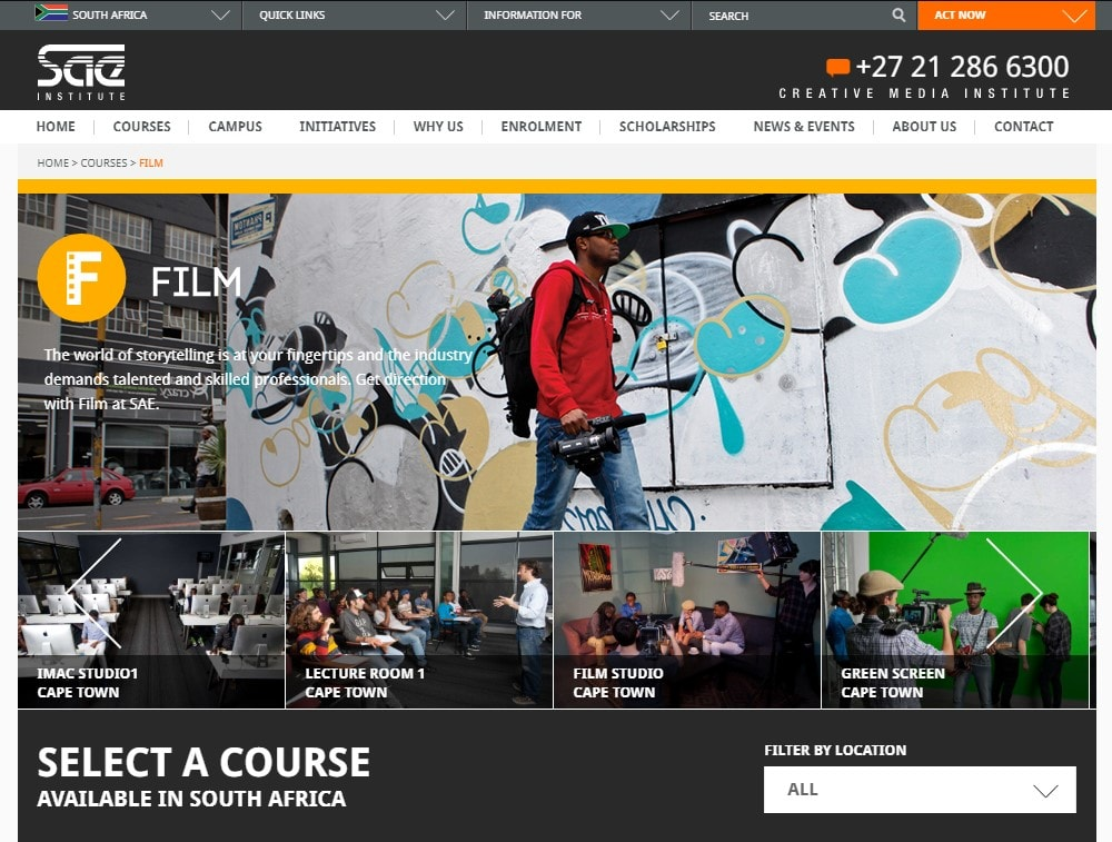 SAE Institute South Africa | Film Production Department
