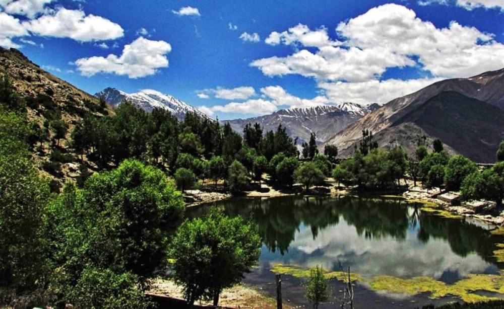 Nako Lake and Nako Village, Kinnaur, Himachal Pradesh