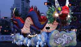 A dragon float during the 2010 Lotus Lantern Parade in Seoul, South Korea.