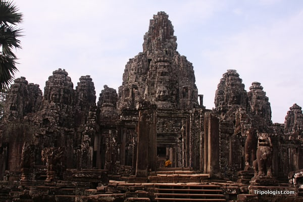 The majestic Bayon Temple at Angkor Thom in Siem Reap, Cambodia.