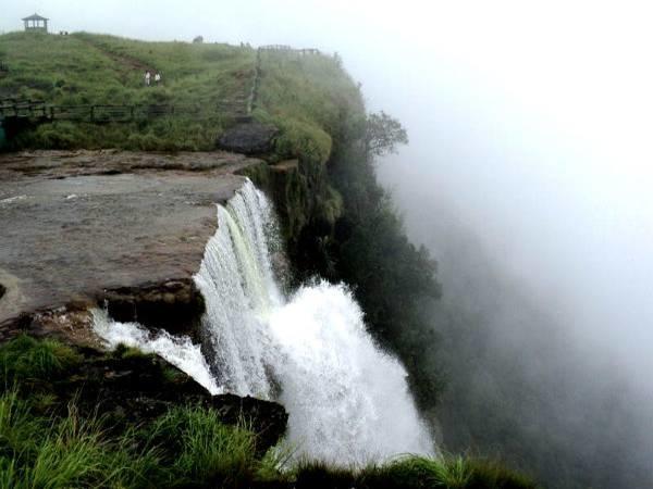 langshiang falls, meghalaya New Year in India