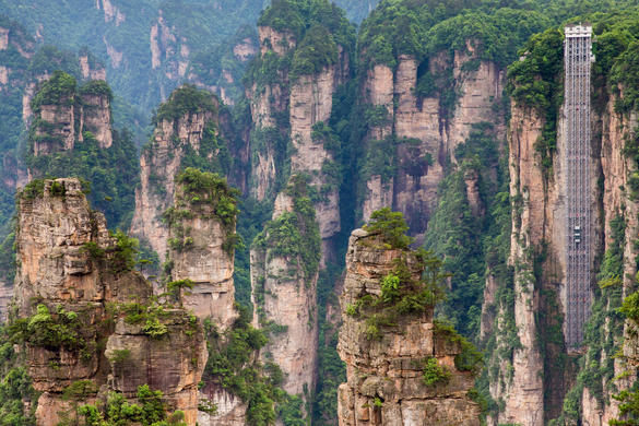 The Bailong Elevator (Zhangjiajie, China): Engineering Marvels