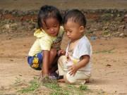 Children outside Angkor Wat, Cambodia