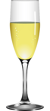 Sparkling glass of wine