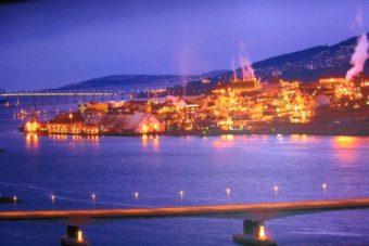Nyrstar Zinc Smelter by night