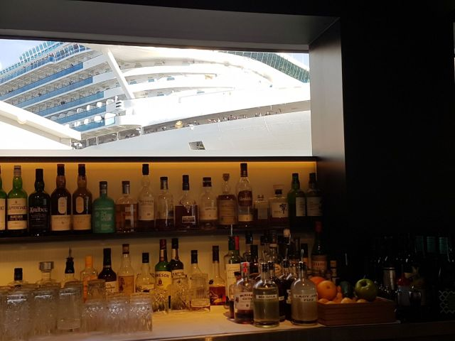In the Story Bar window appeared a huge cruise ship!