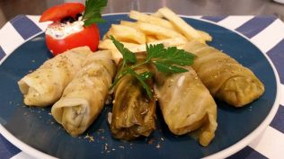 Dolmades - (image borrowed from FILOS fb page)