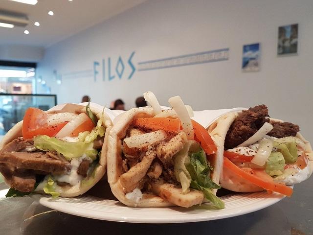 Fill up with souvlakia at FILOS