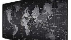 MONA Review - mouse pad world map b&w Jialong
