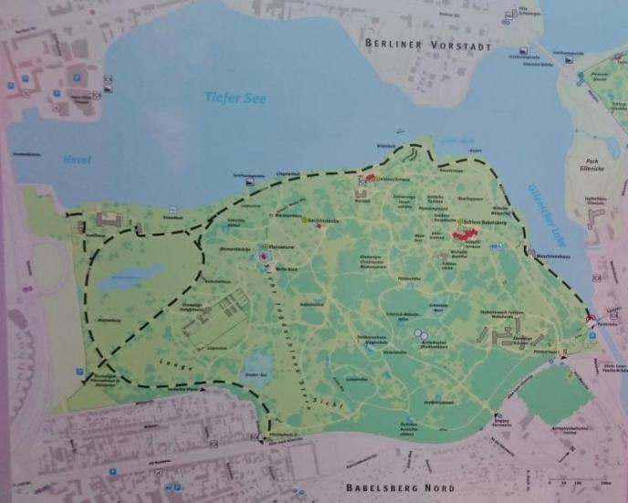 Karte Park Babelsberg