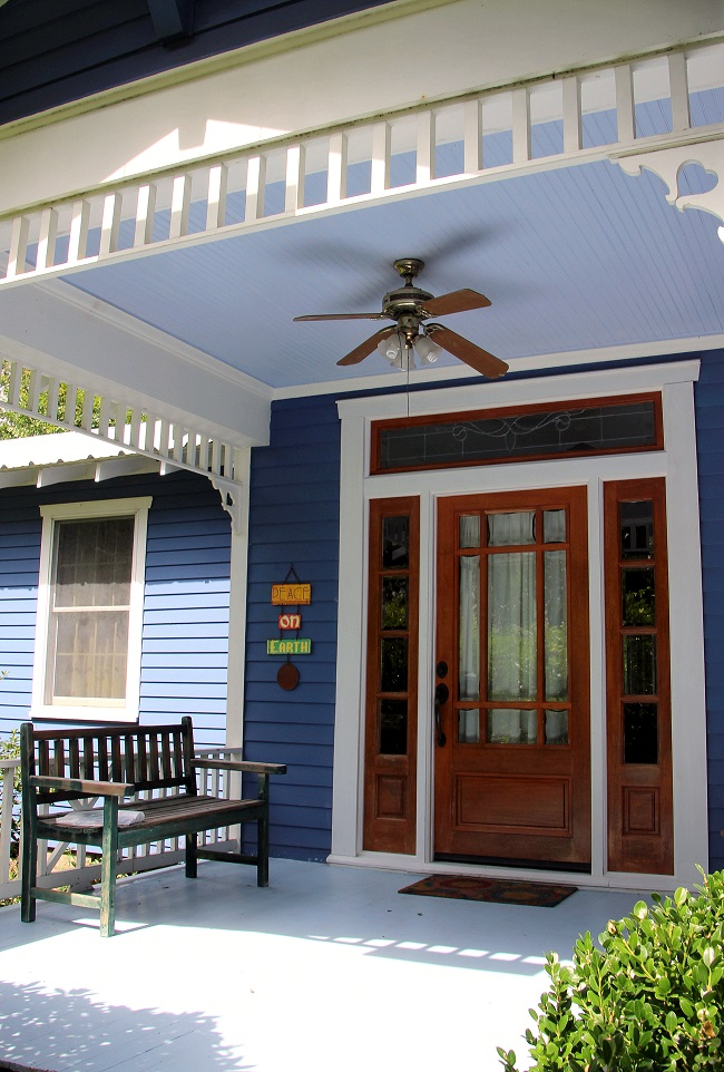 Southern Style: Haint Blue Porch Ceilings on the New