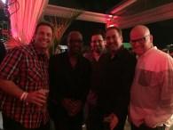 "The crew with Lennie James aka ""Morgan"""