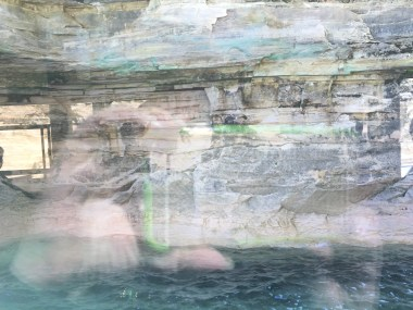 Pictured Rock abstract pastels