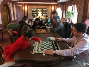 Playing games at the Mountain View Grand Resort & Spa