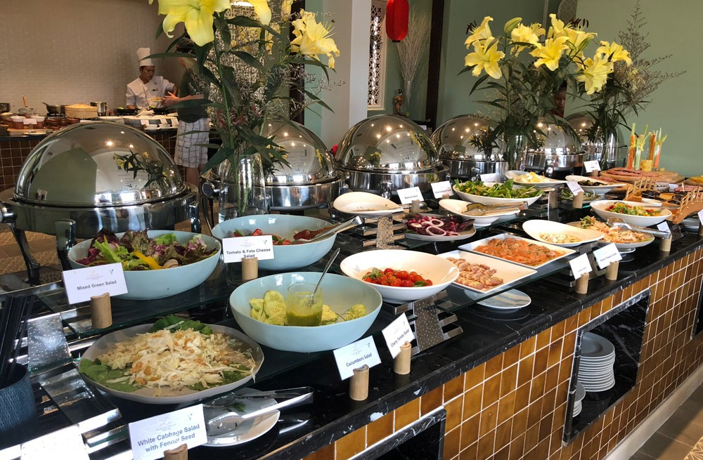 Food at the Allegro Hotel, Hoi An