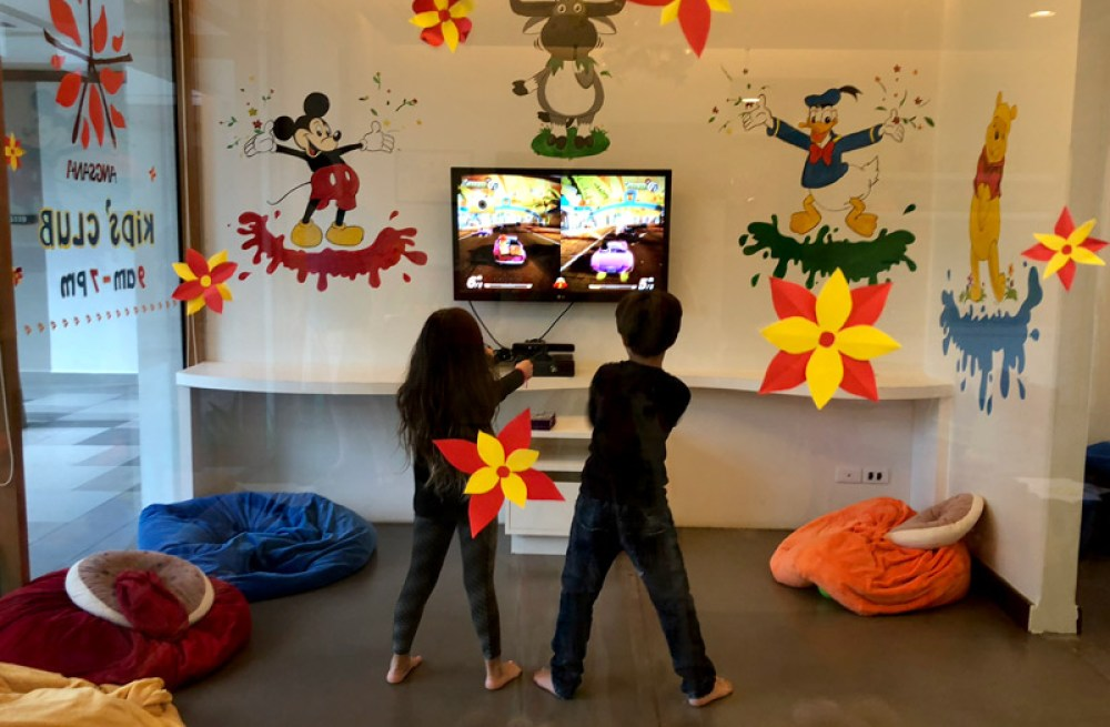 Video games at Angsana's kids club