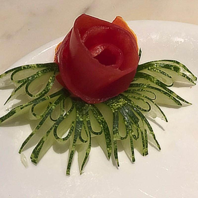 A beautiful veggie rose