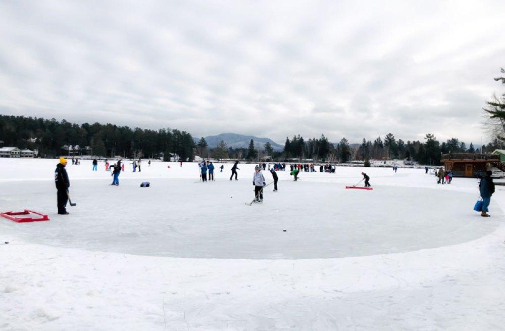 Skating on Mirror Lake