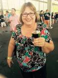 Mom with her Black Abbey dark beer!