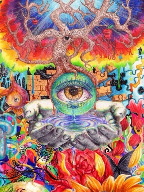 Eye hand for Trippy house music