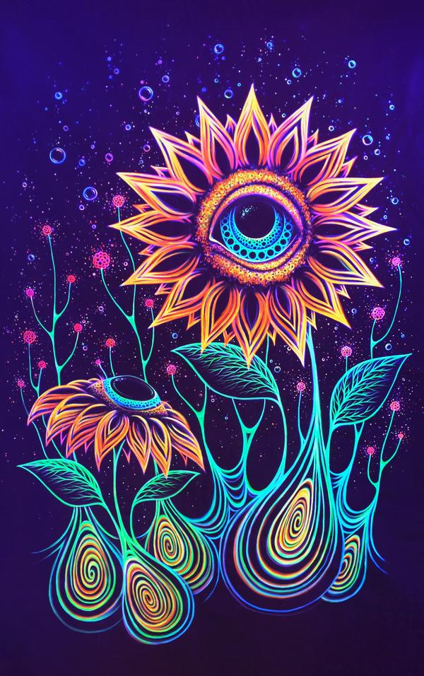 trippy sunflower trippy me