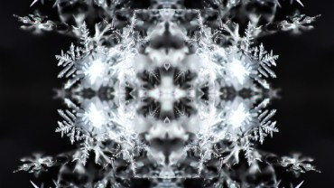 snow kaleidoscope