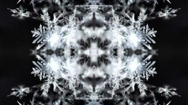 snow kaleidoscope