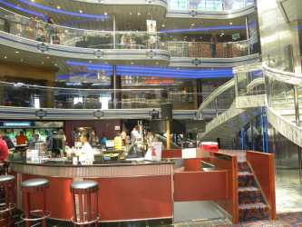 carnival fantasy cruise ship atrium interiors grand lobby garrison linda