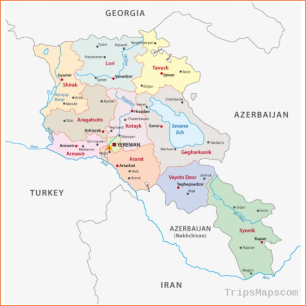 Map of Yerevan Armenia Where is Yerevan Armenia