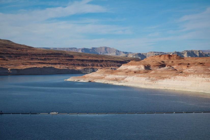 Glen Canyon Dam View of Lake Powell