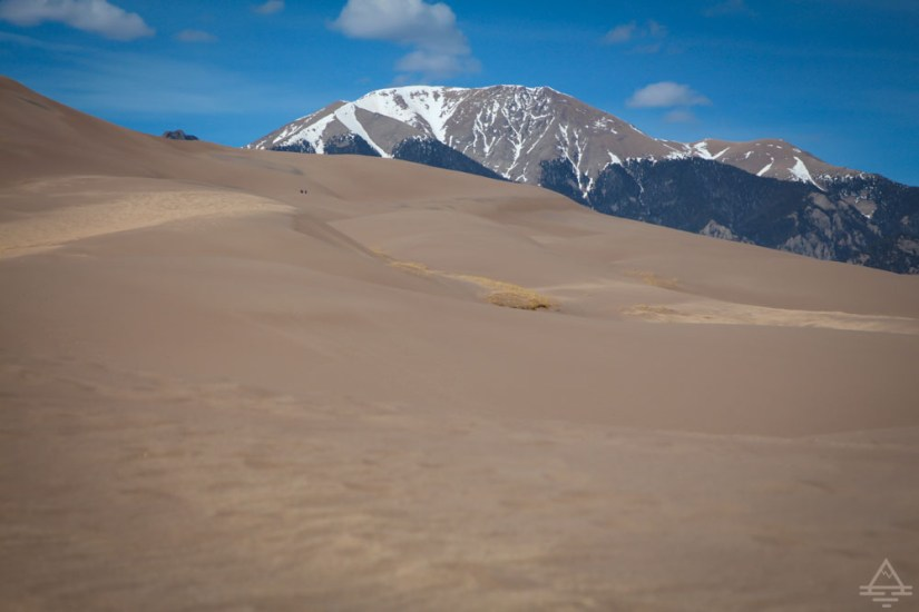 Great Sand Dunes by Rocky Mountains