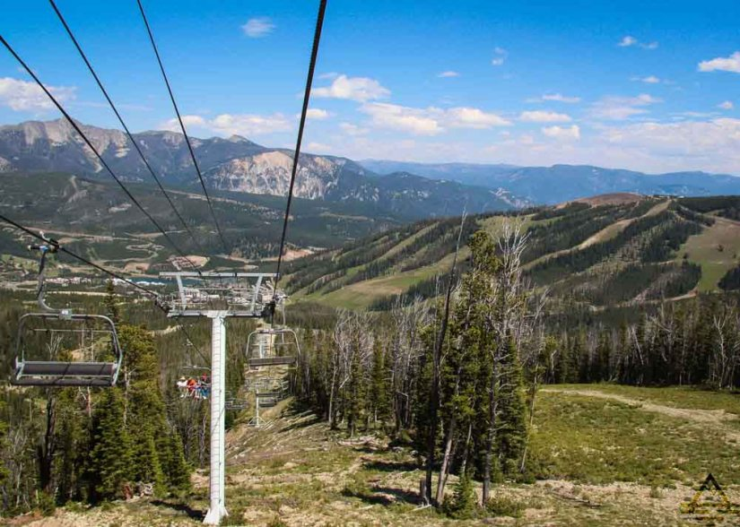 Ski Lift in Big Sky, Montana