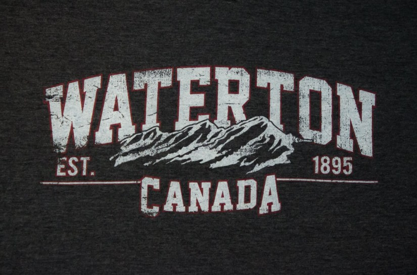 Travel Tee from Waterton in Alberta, Canada