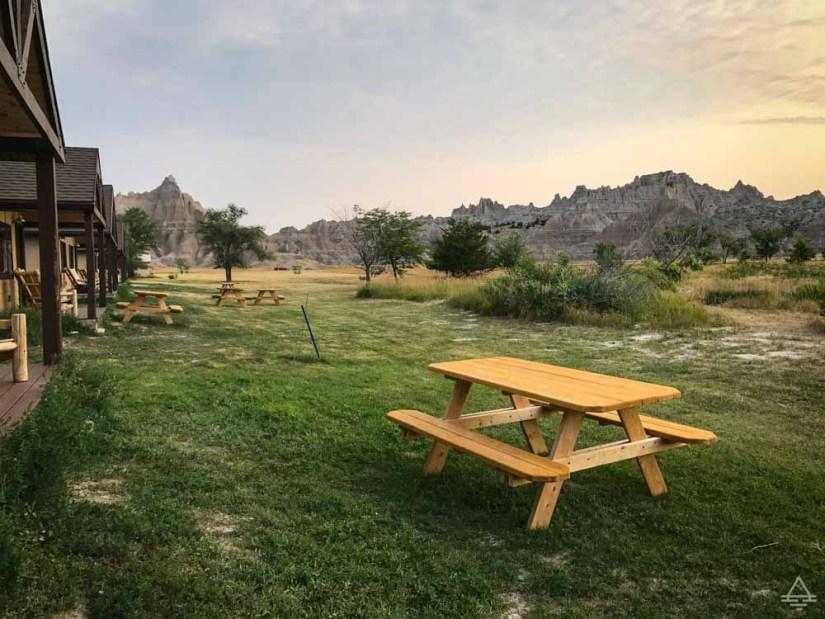 Badlands Cedar Pass Lodge Picnic Table