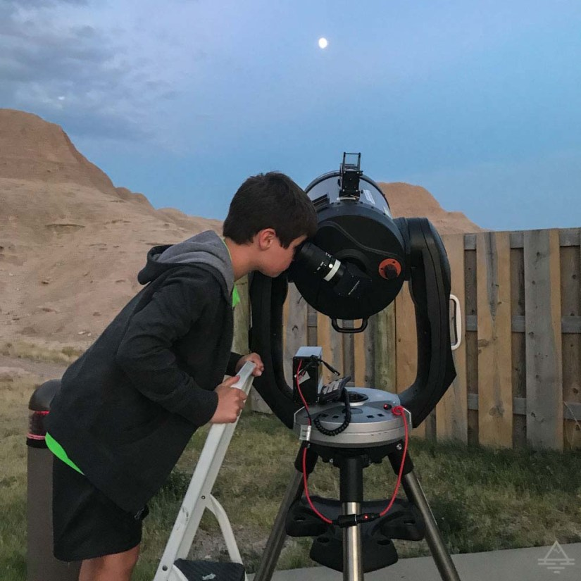 Viewing the Moon Through Telescope