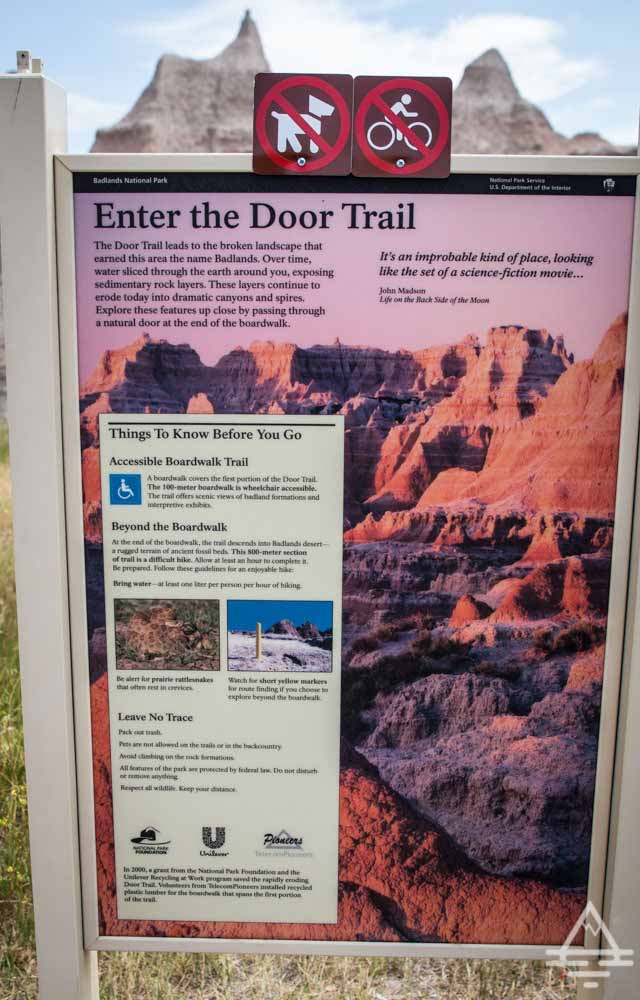 Badlands National Park Must-See, the Door
