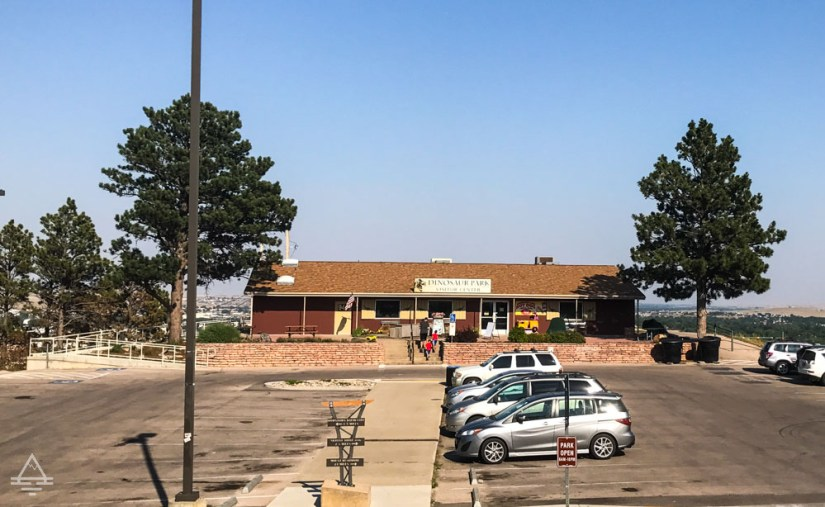 Visitor Center and Parking Lot at the Rapid City Dinosaur Park