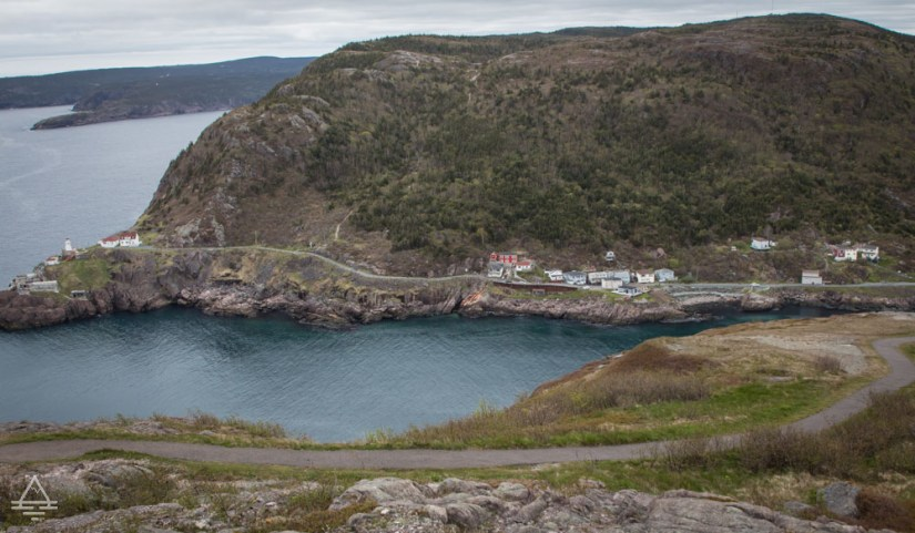 View of the narrow entrance to St John's Harbour from Signal Hill