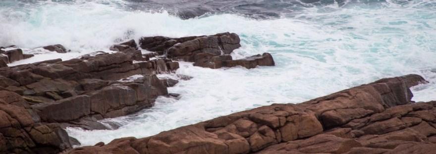 Newfoundland Cape Spear Sea and Rocks