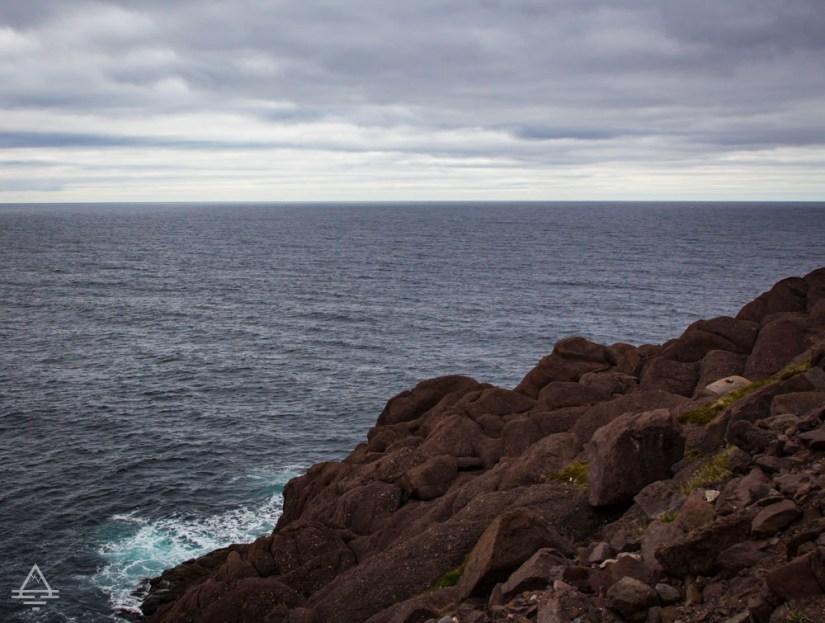 Newfoundland Cape Spear Cliff by Atlantic Ocean