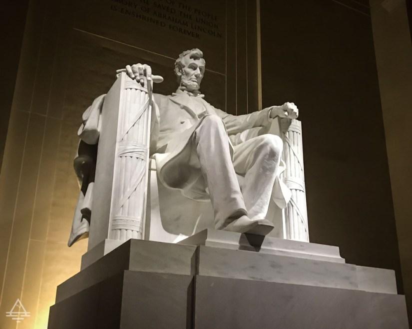 Washington DC- Lincoln Memorial Statue of Lincoln