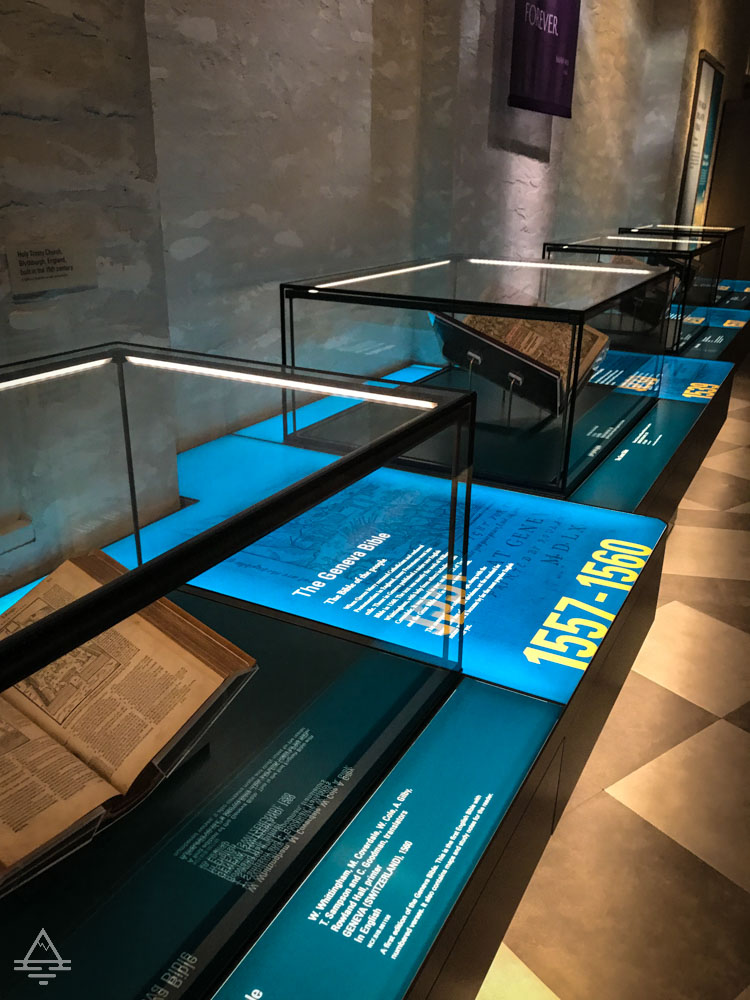 Display Cases with Bibles