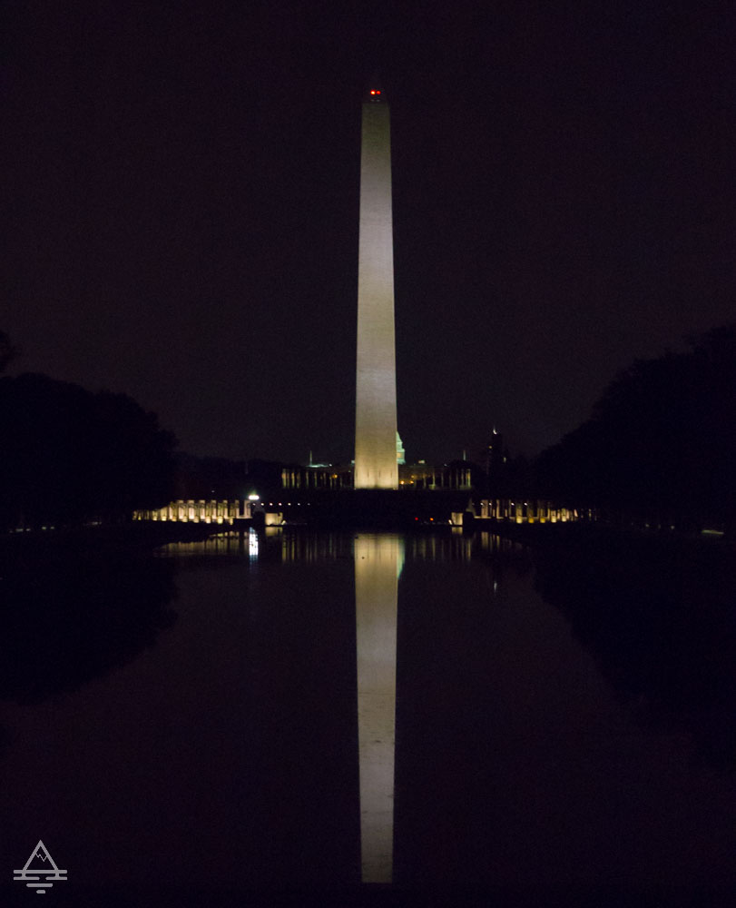 Washington Monuments Tour - Washington Monument at Night