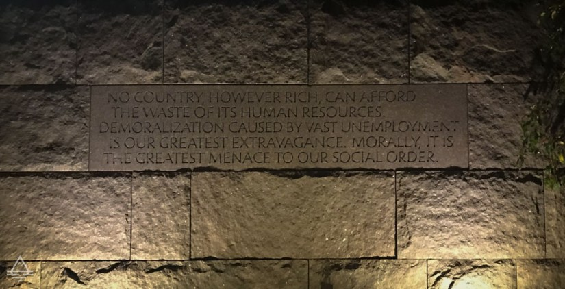 FDR Memorial Engraved Quote: