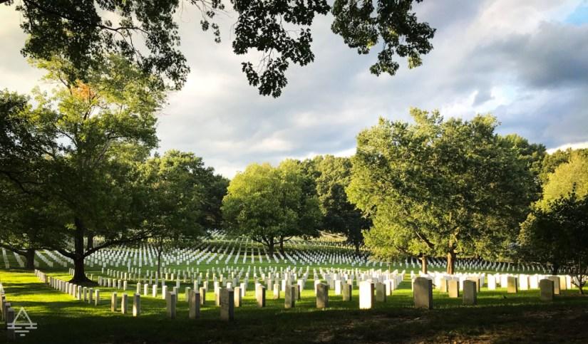 Gravestones at Arlington Cemetery
