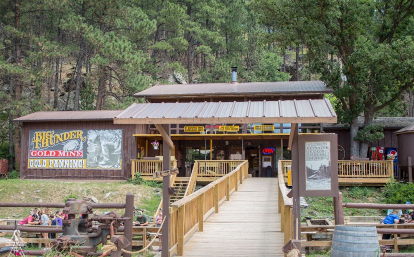 Front of Big Thunder Gold Mine in the Black Hills
