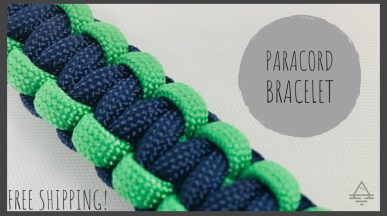 Green and Navy Paracord Bracelet