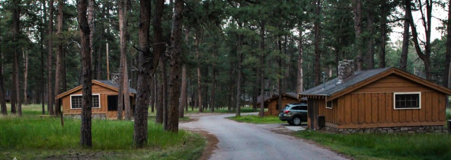 Road through Blue Belle Lodge Cabins in Custer State Park